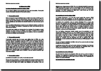 Le Régime de la LAMal (assurance Suisse)