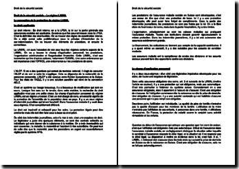 Droit de la sécurité sociale - Le régime LAMAL (Suisse)