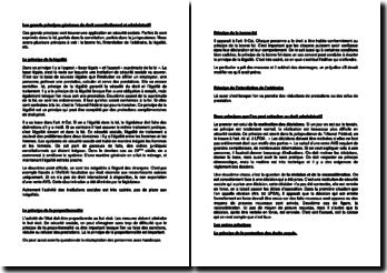 Les grands principes généraux de droit constitutionnel et administratif (Suisse)