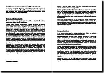 Les principes fondamentaux spécifiques au droit de la sécurité sociale (Suisse)