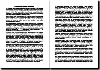 L'avant texte, un corpus en psychanalyse