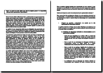mode de scrutin dissertation droit constitutionnel