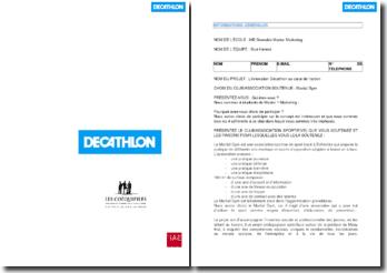 Création d'un nouveau concept magasin : l'innovation Décathlon au coeur de l'action