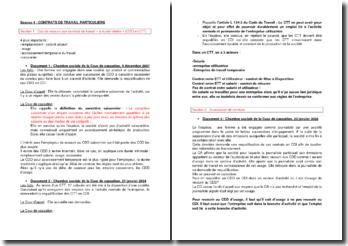 Etude de cas sur les contrats de travail particuliers