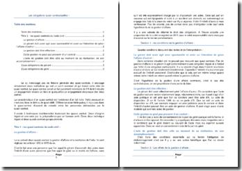 Les quasi-contrats du Code civil