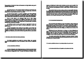 Commentaire d'arrêt de la Première Chambre civile de la Cour de cassation du 13 juin 2006 : les quasi-contrats