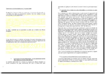 Commentaire d'arrêt de la décision du Conseil d'État en date du 19 octobre 2005 : la fermeture d'un poste diplomatique