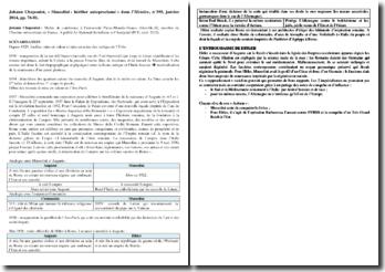 Mussolini : héritier autoproclamé - Johann Chapoutot, dans l'Histoire, n 395, janvier 2014, pp. 78-81