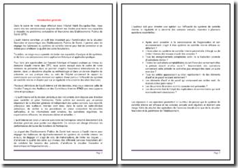 L'audit dans un Etablissements Publics de Santé (EPS)