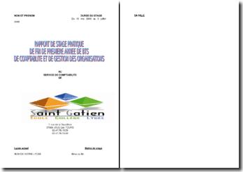 Stage au service comptabilité de l'écolle Saint-Gatien