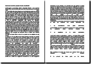 Commentaire d'arrêt du Conseil d'État rendu le 30 juillet 2003 : le maintien de l'ordre public