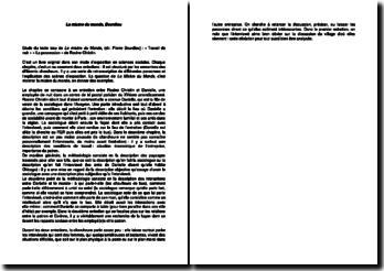 Extrait de La misère du monde,de Bourdieu : entretients de Rosine Christin. « Travail de nuit » « La possession »