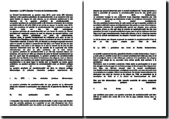 La QPC (Question Prioritaire de Constitutionnalité)
