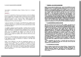 La démobilisation politique - Frédérique Matonti : La crise de la représentativité présidentielle