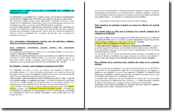 Commentaire d'arrêt du Conseil d'Etat du 6 novembre 2013 : les concessions d'aménagement