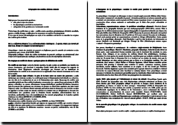 Géographie des conflits, éditions Atlande