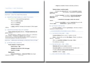 Plan détaillé de Droit Processuel