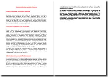 Une reconsidération du rôle de l'industrie (2004)