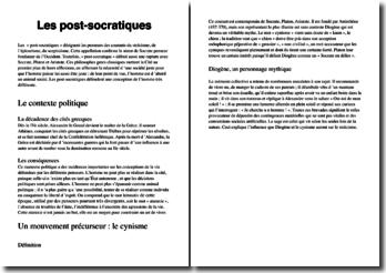 Les post-socratiques
