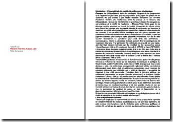 Private truths, public lies - Timur Kuran : L'incomplétude du modèle de préférences néoclassique