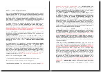 La notion de sujet international et le caractère obligatoire du DIP