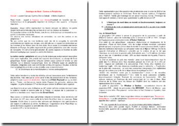 Amérique du Nord : Centres et Périphéries d'après Laurent Carroué, Cynthia Ghorra-Gobain