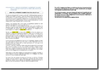 Arrêt d la première chambre civile du 9 juillet 2014 relatif à l'absence d'emprunt souscrit par le conjoint fondateur au nom d'une société en formation