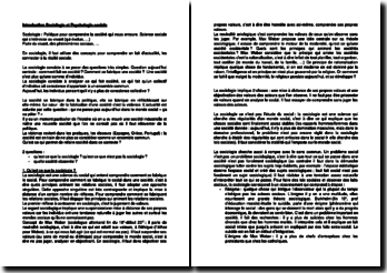 Introduction Sociologie et Psychologie sociale