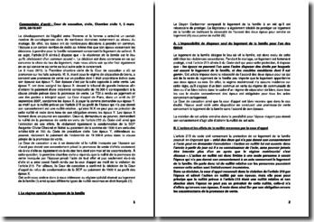 Commentaire d'arrêt de la Première chambre civile de la Cour de cassation du 3 mars 2010 : le régime spécial du logement de la famille