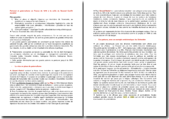 Patronat et paternalisme en France de 1870 à la veille du Second Conflit mondial