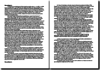 Cas pratiques de droit administratif sur la compétence des juridictions