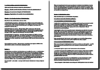 Le Cadre juridique général de l'administration