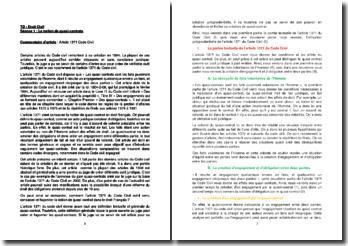 Commentaire de l'article 1371 du Code civil : la notion de quasi-contrats