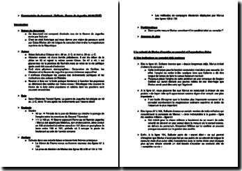Commentaire du document : Salluste, Guerre de Jugurtha, 63-65 (CUF)