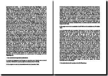 La IVe République entre deux Républiques - Pierre Avril et Jean Gicquel