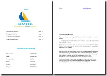 Présentation de l'entreprise de bateaux Boatek (en français et en anglais)