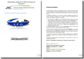 Rapport de stage de l'Entreprise Portuaire d'Oran (Algérie)