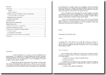 Rapport de stage effectué à l'association AHLI au Maroc