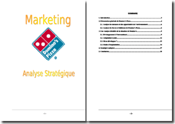 Analyse marketing de Domino's Pizza