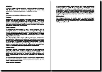 Fiche d'arrêt de la Deuxième Chambre civile de la Cour de cassation du 6 mai 1987 : les réparations pécuniaires et la répartition des biens en cas de divorce