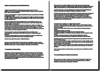 La Muse Endormie de Constantin Brancusi