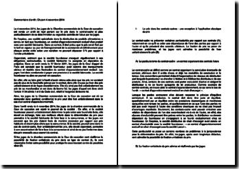 Commentaire d'arrêt de la Chambre commerciale de la Cour de cassation du 4 novembre 2014 : le prix dans le contrat-cadre