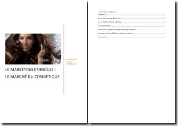 Le marketing ethnique : le marché du cosmétique