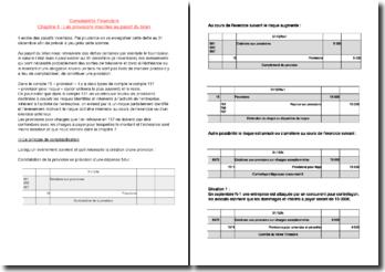 Comptabilité - Les provisions inscrites au passif du bilan