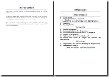 Rapport de stage licence de gestion comptabilité finance