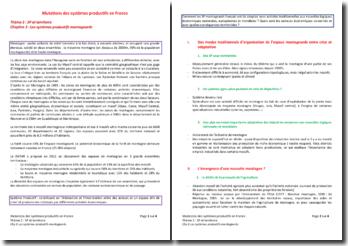 Les mutations des systèmes productifs en France - Les systèmes productifs montagnards