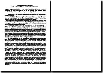 Dissertation sur Le crépuscule de Prométhée de François Flahaut (CCP)