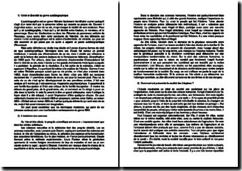 L'utopie : le genre autobiographique, Raphaël, Thomas More, etc.