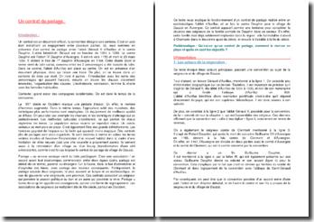 Commentaire d'un contrat de pariage entre l'abbé Géraud V d'Aurillac et le comte Dauphin