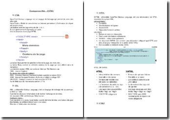 Développement Web - X(HTML)